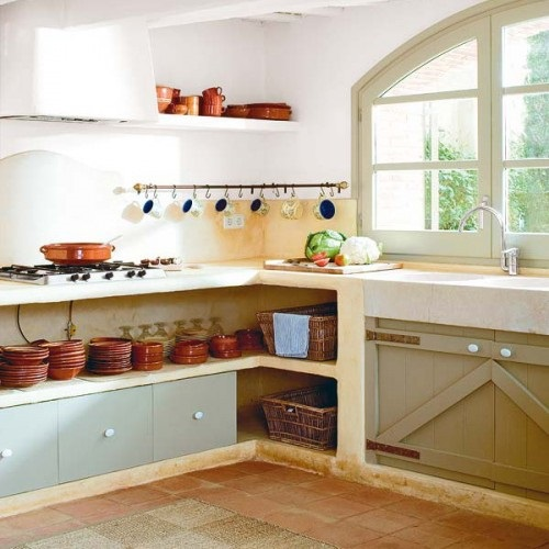 small kitchen with smart organisation