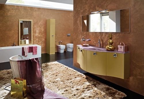 Accent bathroom designer accessories!