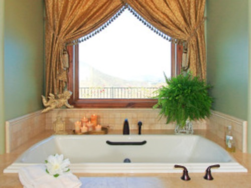 Bathrooms Window Curtains Designs