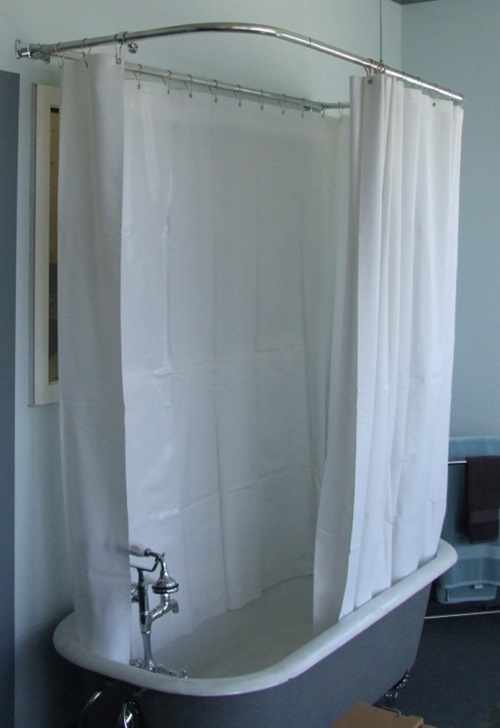 Cottage Bathroom Curtain Ideas