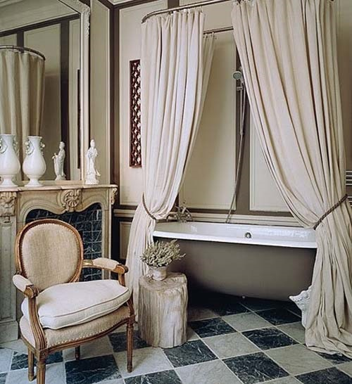 Cottage Bathroom Curtain Ideas - Home Decor