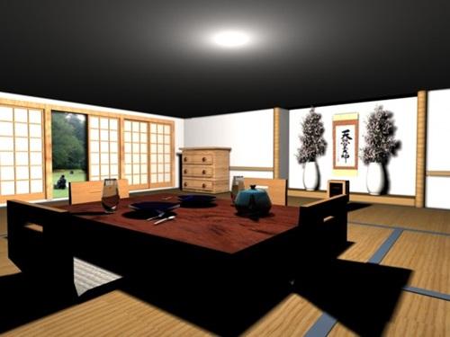 Japanese dining room decoration