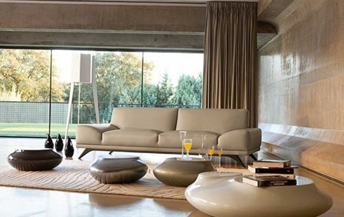 Luxurious Modern Living Room Curtain Design