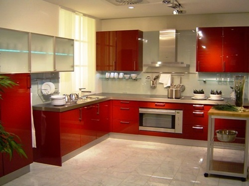 red kitchen decorating ideas, kitchen, colourful design