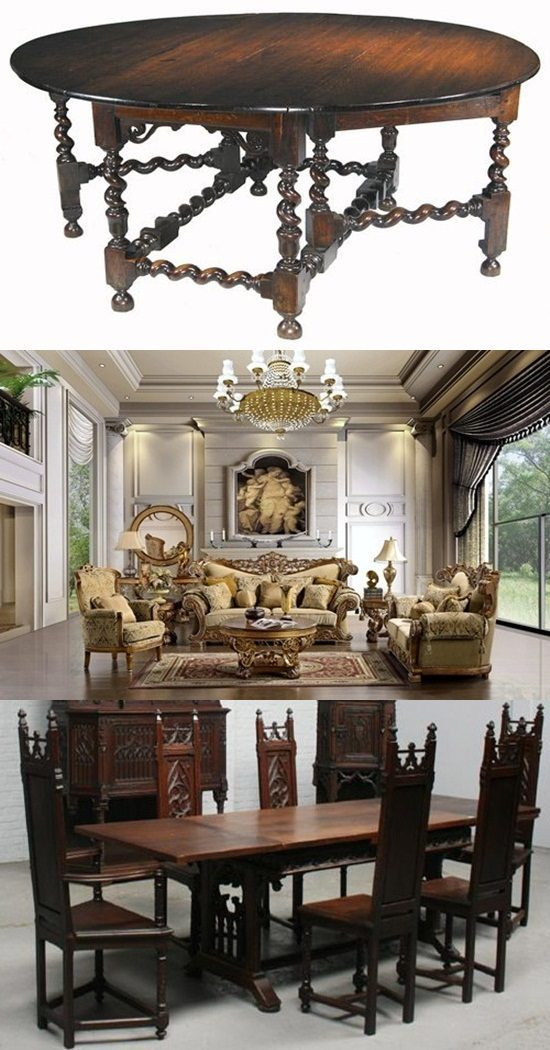 Styles of English Renaissance Antique Furniture