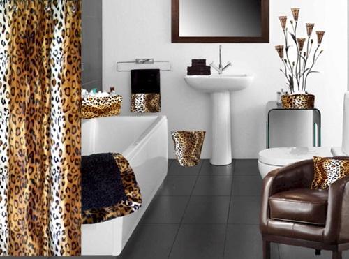 African Safari Bathroom Curtain Ideas