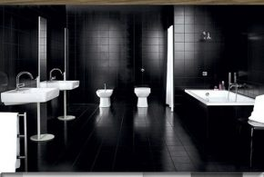 Interior Design of Bathroom - Flooring, Walls and Furniture