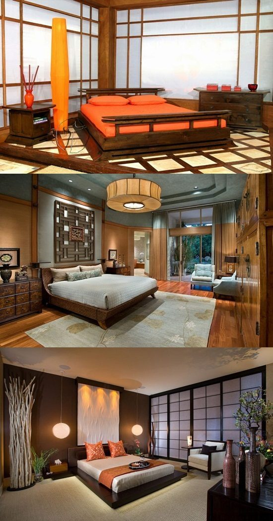 Japanese Bedroom Designs – Natural Look