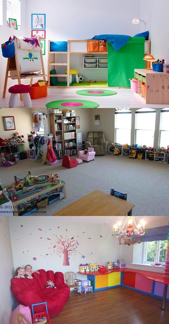 Living Room – Storage Spaces for the kids' Toys