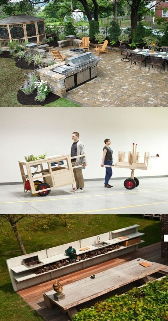Stylish Mobile Kitchens for Outdoors