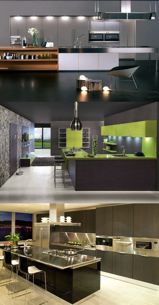 Amazing Modern Stainless Steel Kitchen Design Ideas
