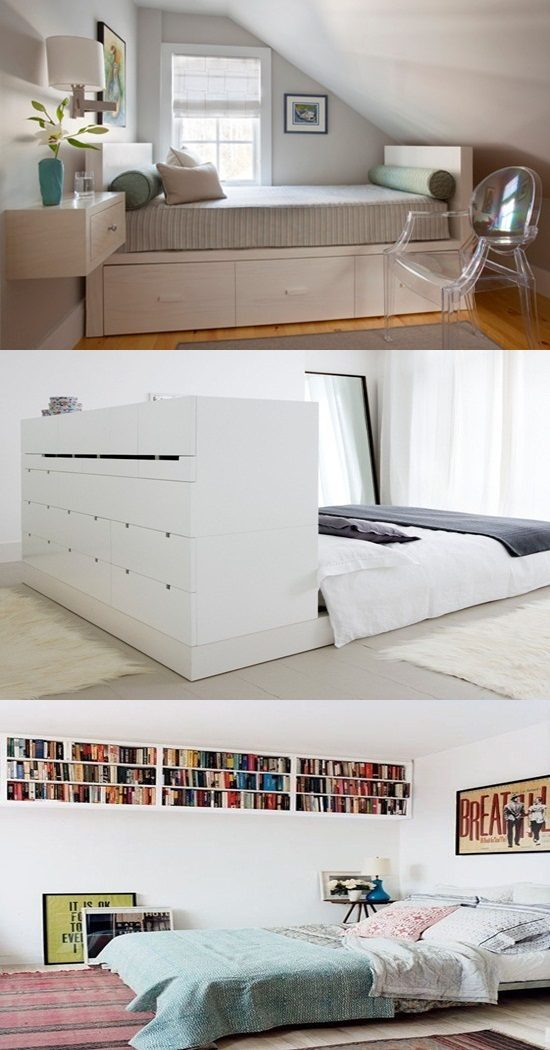 Clever ideas designs to create storage space in your for Bedroom design creator