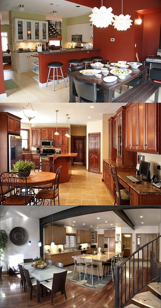 Kitchen Room Illustration: Combine Your Kitchen And Dining Room And Get Space And Style