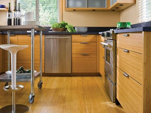 Functional And Unusual Kitchen Set Of Bamboo