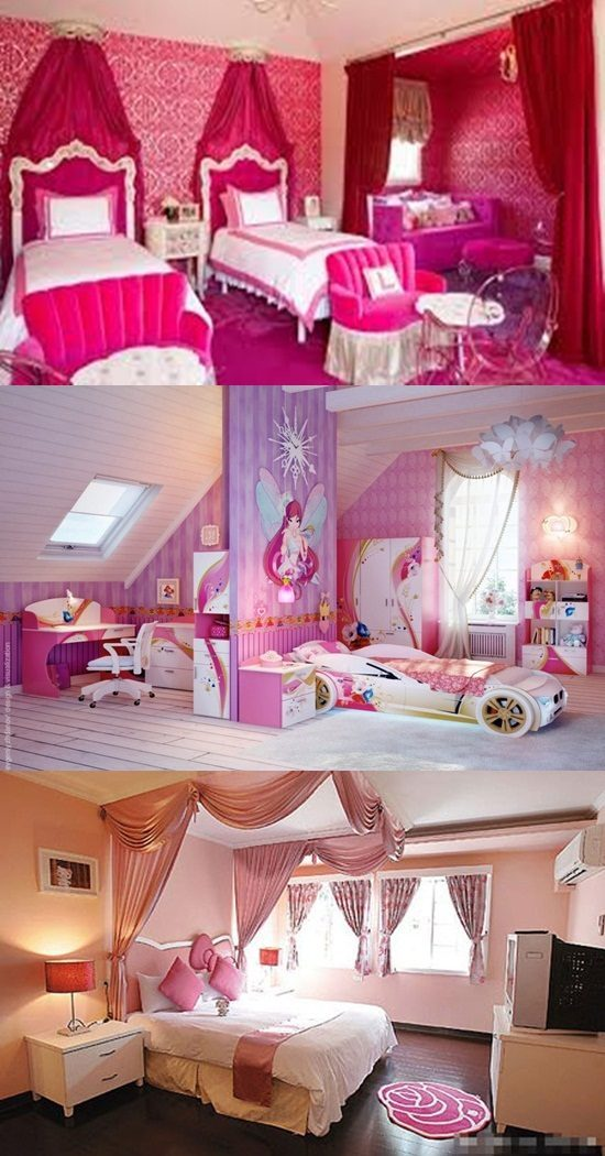 How to Decorate an Attractive Little Girl Bedroom with a Fairy-tale Theme