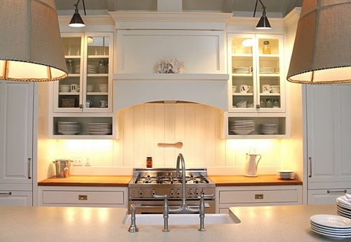 Kitchen Designed In Modern Victorian Style