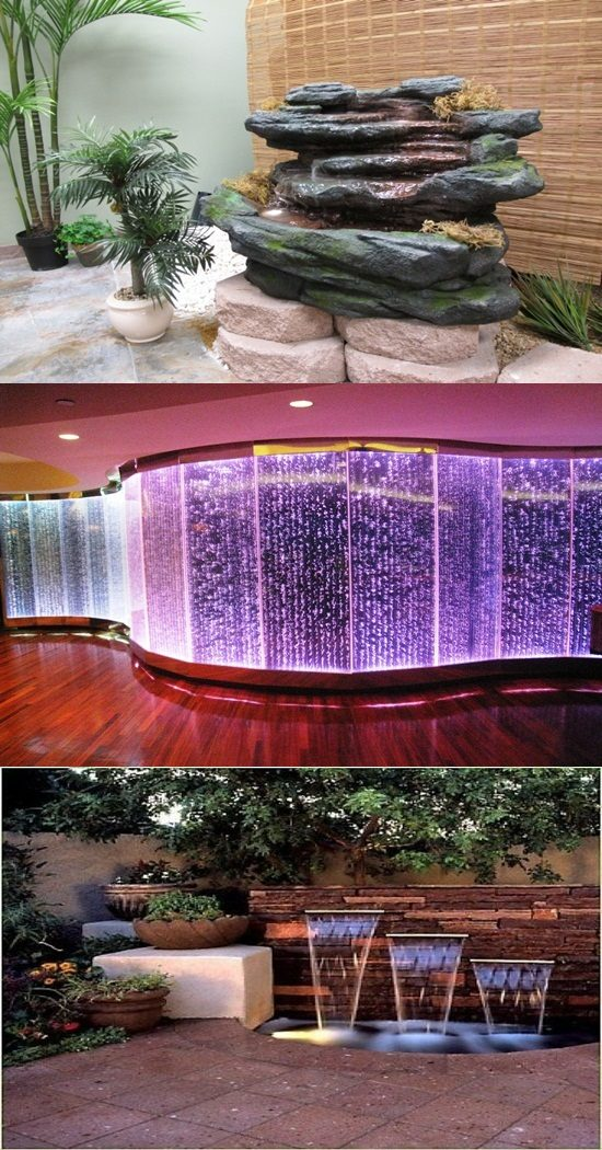 Modern Water Fountains and Waterfalls to Decorate your Home and Office