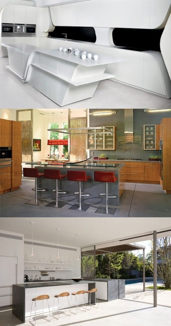 Simple ways to have Striking Futuristic Kitchen