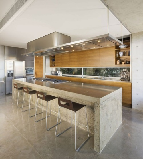 Striking Futuristic Kitchen