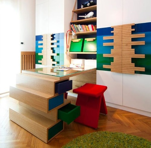 Amazing Kids Study Desk Design Ideas