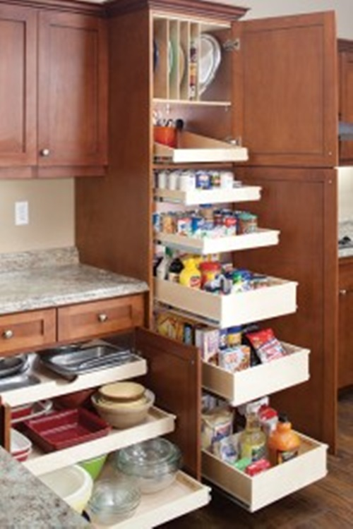 kitchen cabinet sliding shelves innovative sliding cabinet shelves to save your kitchen 19587