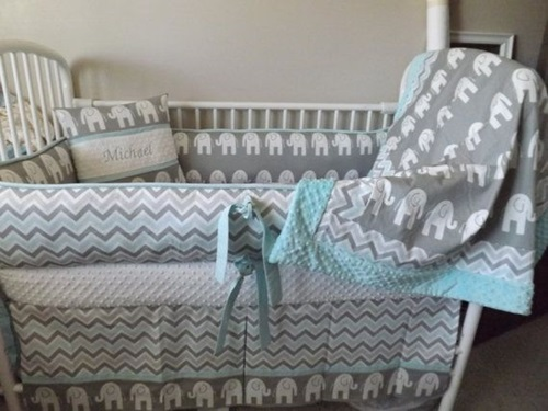 7 splendid Ideas to Create a Blue ElephantThemed Nursery for your Newborn Child