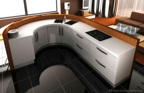 Common Kitchen Design Mistakes Overlooking Fillers And Panels: Amazing Modern Curved Kitchen Design Ideas