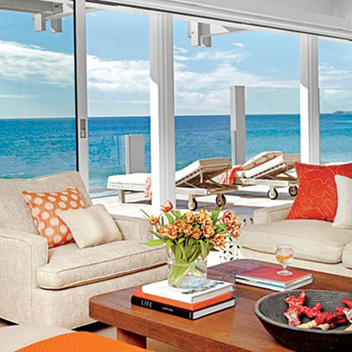 Breezy Beach Living Room Decorating Ideas
