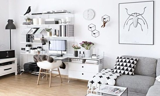 Fabulous Home Office Desk Designs for Living Rooms