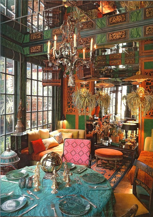 The long and short of decorating your room in bohemian for Bohemian dining room decorating ideas