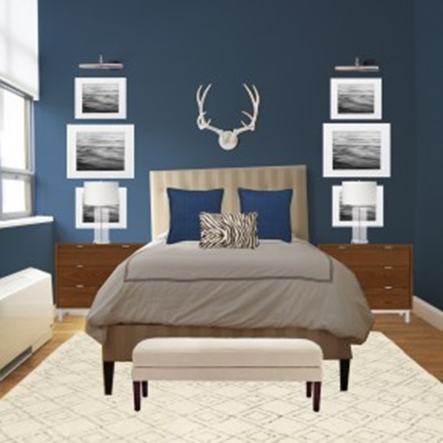 Impressive White and Blue Bedroom Decorating Ideas