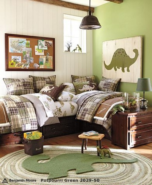 Magical Kids Room with a Dinosaur Theme