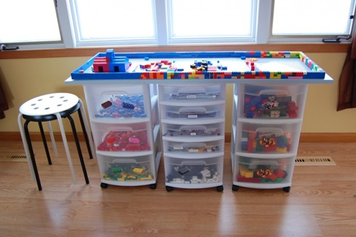 Stunning LEGO Table Designs for Your Kids Playroom