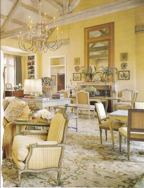 French Design Living Room: Chic And Luxurious Large French Style Living Room Ideas