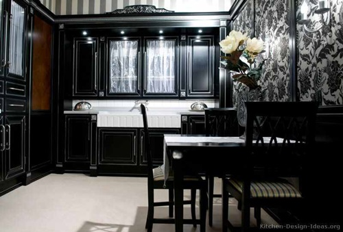 Elegant Espresso Cabinet Designs for a Warm Traditional Kitchen