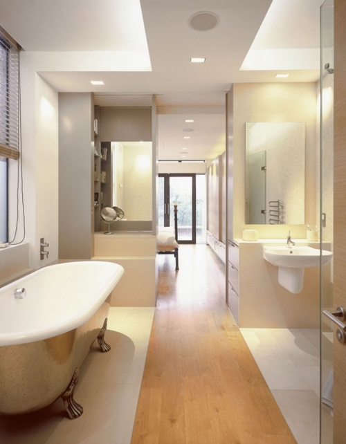Modish Bathroom Lighting Ideas With Modern Concept: Impressive Modern Bathroom Ceiling And Wall Lighting Ideas