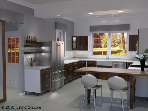 Popular Spacious Modern Kitchen Design Trends