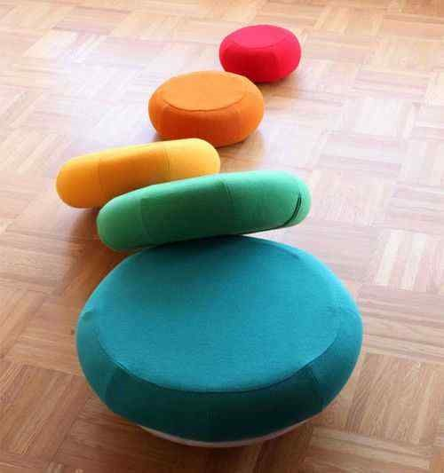 Unique Decorative and Functional Pouf Design Ideas