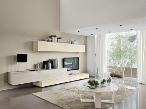 White Home with Transparent Wall Design Ideas