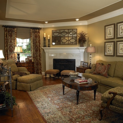 Ways To Decorate A Living Room: Amazing Ways To Decorate A Romantic Traditional Living Room