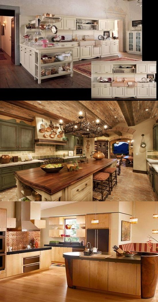 Create your charming purple kitchen with Italian feel