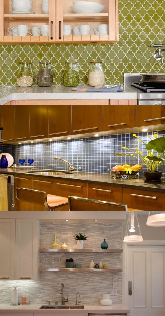 Interesting Functional and Decorative Kitchen Backsplash Tiles