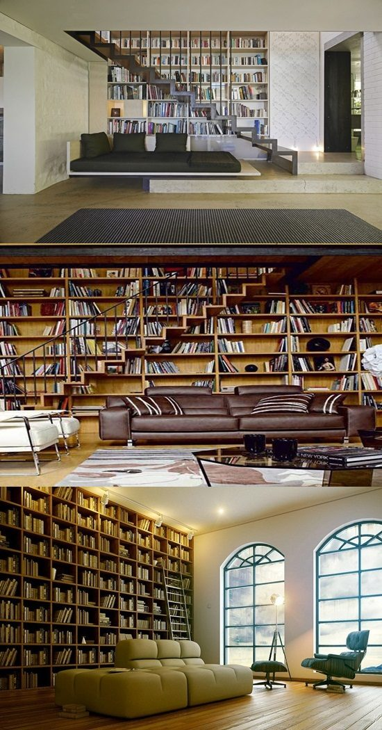 Contemporary Home Library Design: Interesting Home Library Designs For Modern Homes