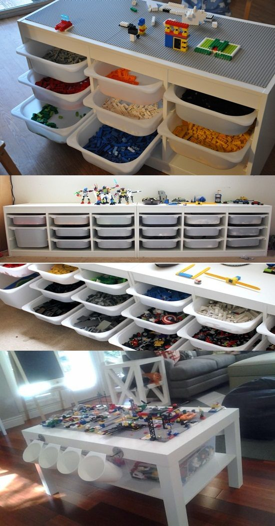 Stunning LEGO Table Designs for Your Kids' Playroom