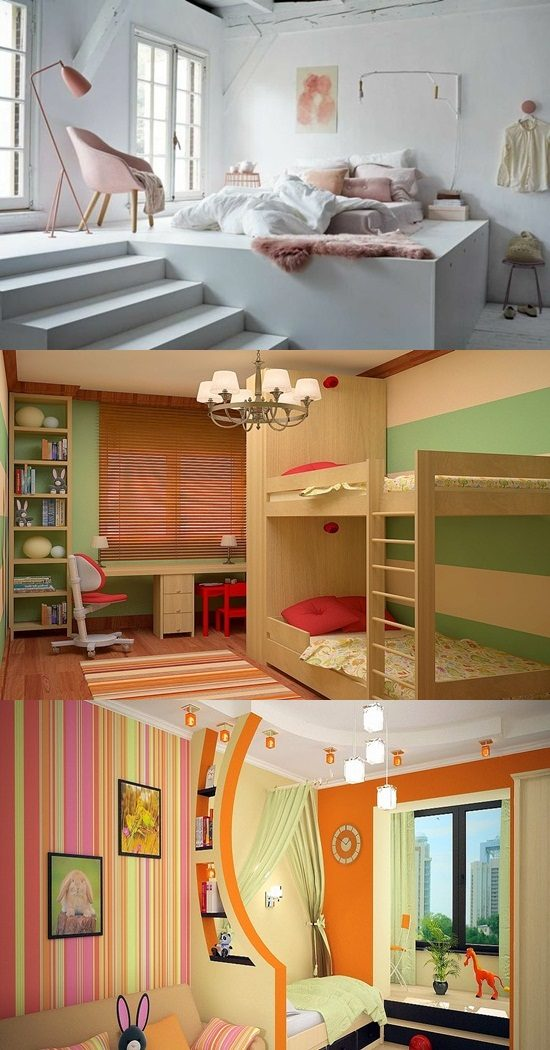 Ultramodern Different Sex Kids' Bedroom Ideas
