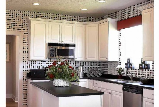 wall paper is a creative way to decorate your Kitchen