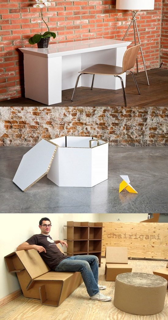 Affordable Recyclable Cardboard Furniture for your home