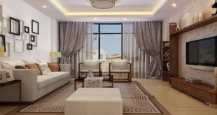 Be creative and choose a decorative curtain to beautify the overall look