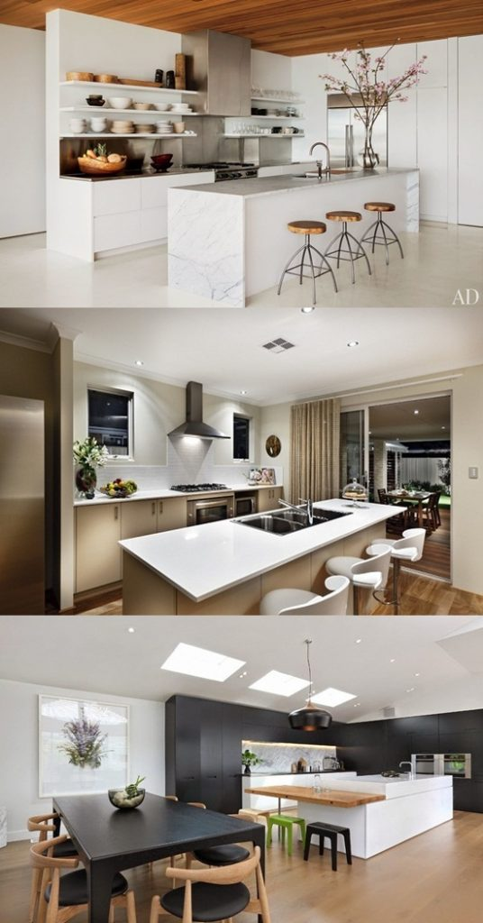 Be Creative With A Catchy Modern And Minimalist Black White Kitchen