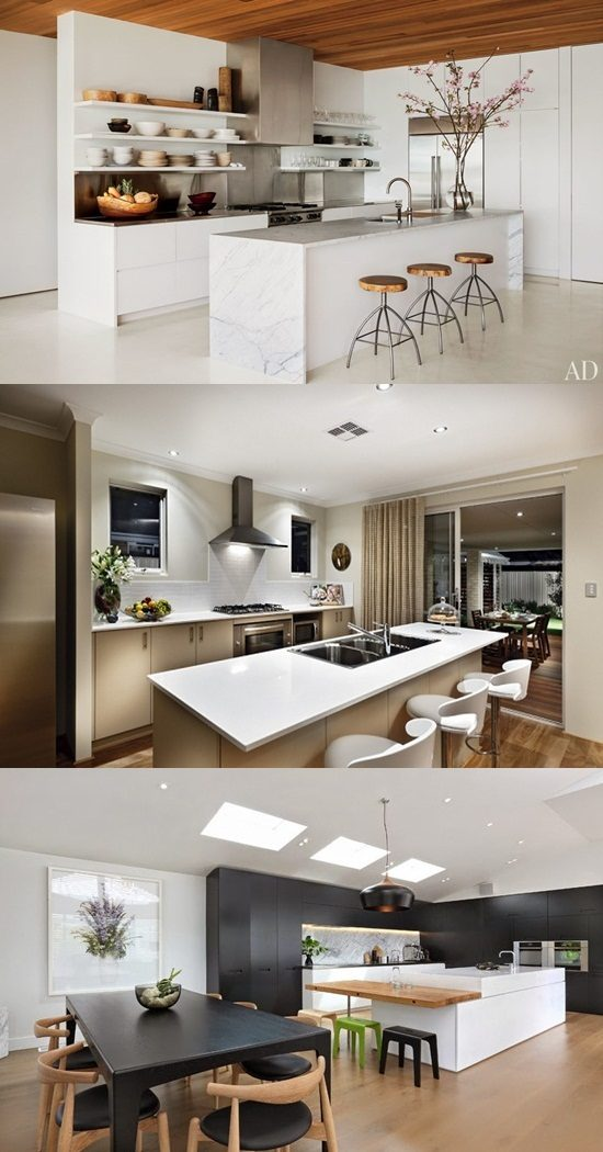 Be creative with a catchy modern and minimalist black & white kitchen